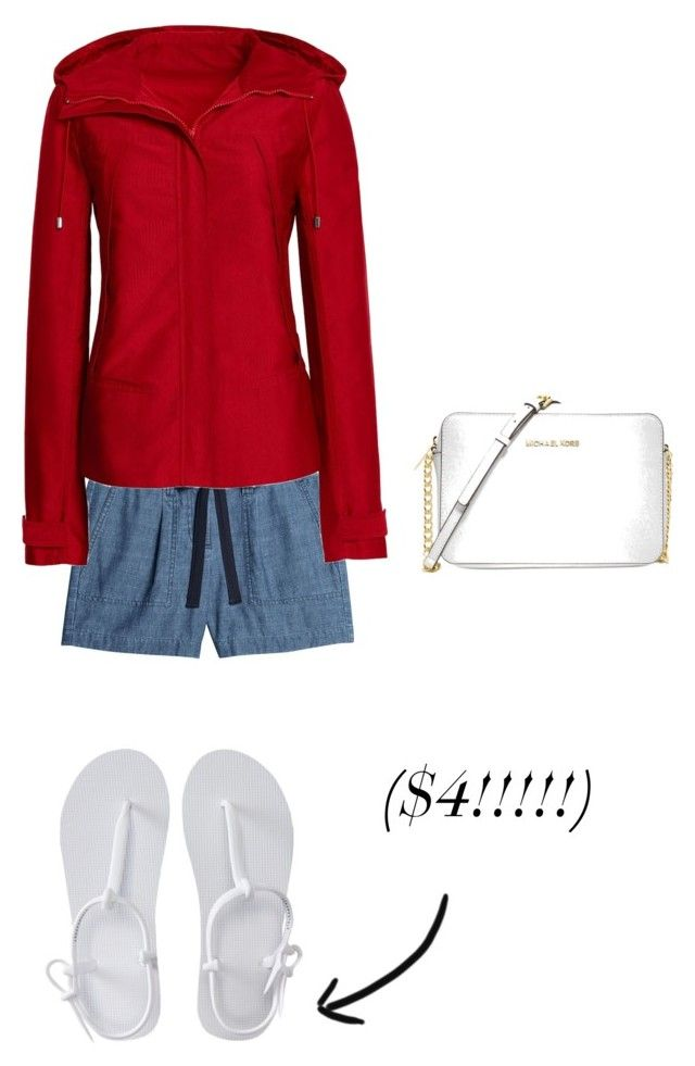 """""""Red, White, And TRUE Blue (+ cute cheap sandals)"""" by missmackenzied ❤ liked on Polyvore featuring Canvas by Lands' End, Aéropostale and Michael Kors"""