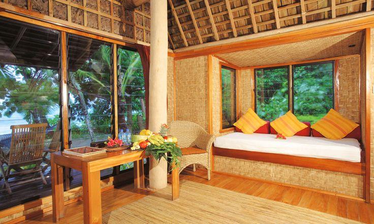 Fafa Island Resort Deluxe Fale Sitting Area