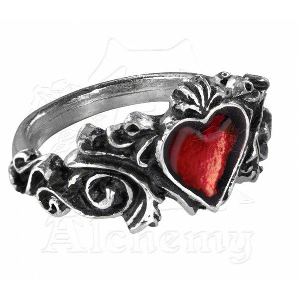 Alchemy Gothic Ring Betrothal ($19) ❤ liked on Polyvore featuring jewelry, rings, goth rings, gothic jewelry, gothic jewellery, gothic rings and goth jewelry