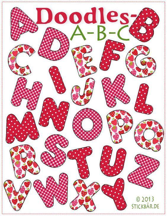Garabatos ABC diseños de bordado de máquina por DerStickbaer
