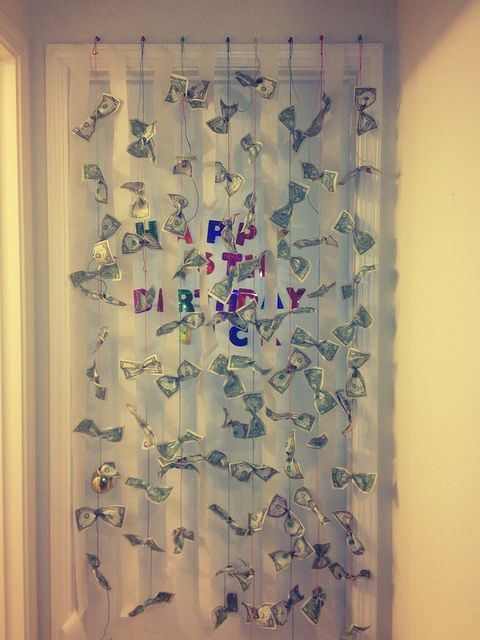 Curtain of Cash by Compwalla, via Flickr - Great idea for teens.
