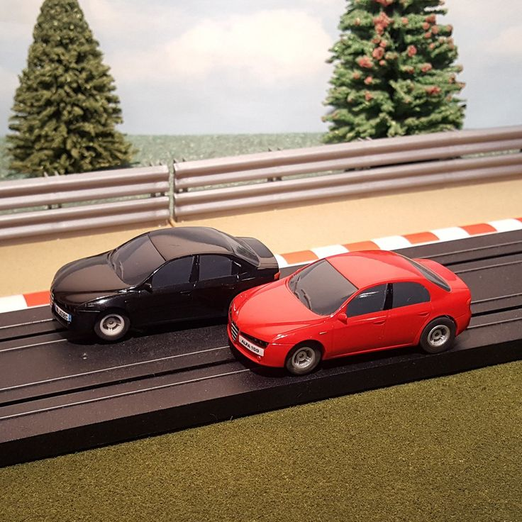 For sale Micro Scalextric ... One careful owner! Browse here http://www.actionslotracing.co.uk/products/micro-scalextric-pair-of-1-64-cars-red-black-alfa-romeo?utm_campaign=social_autopilot&utm_source=pin&utm_medium=pin