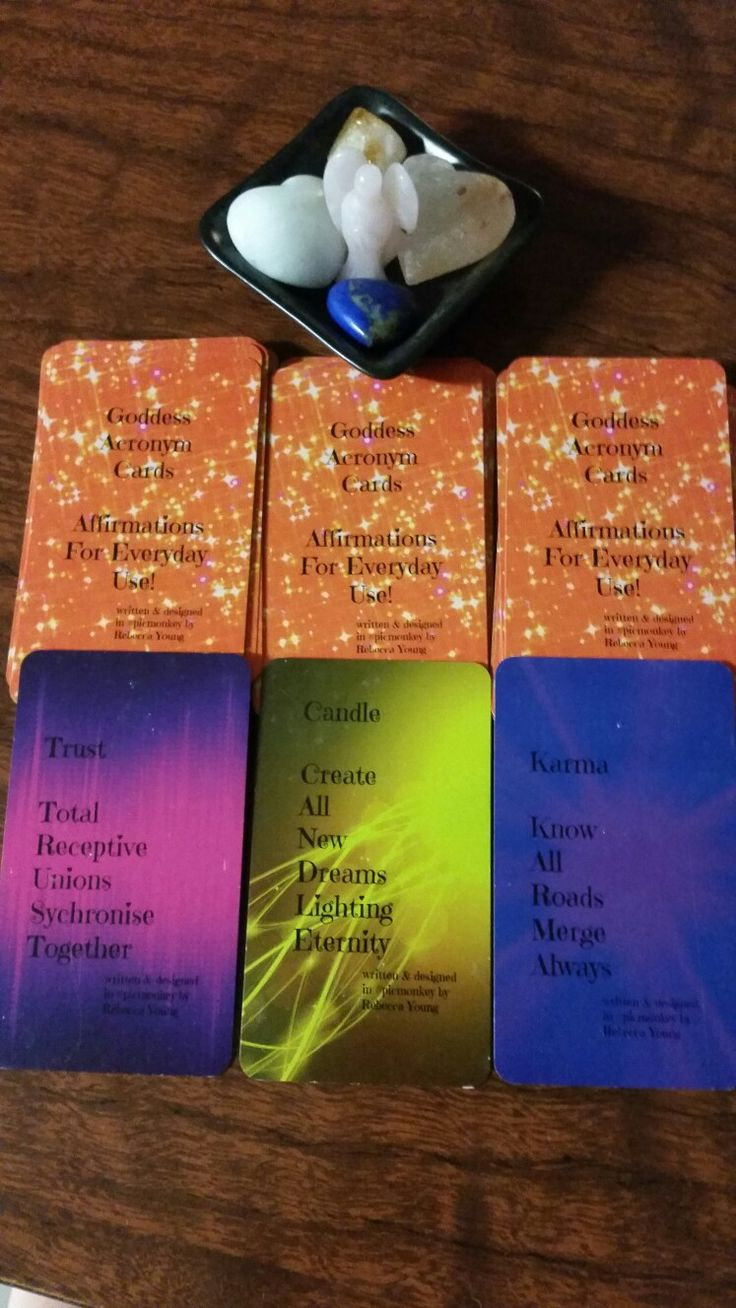 My GAC Goddess Acronym Cards! Affirmations for everyday use! Redesigned have #gofundme wish to get out to the world