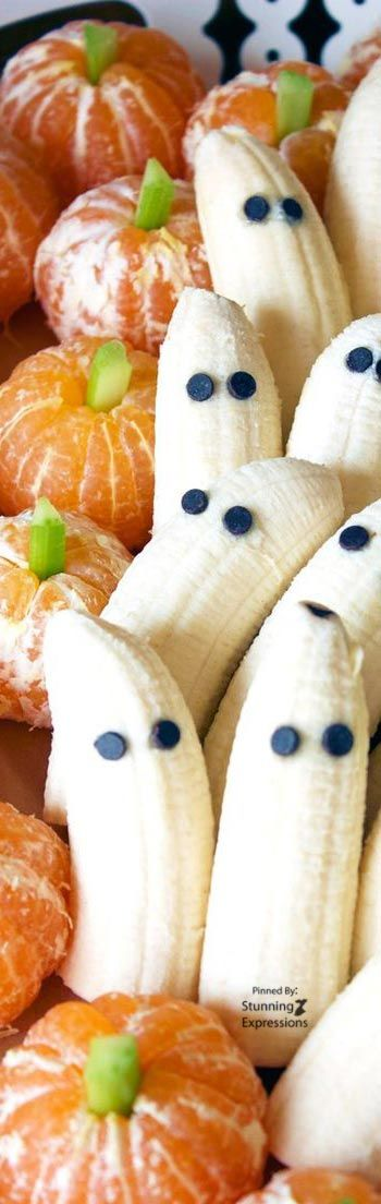 Tangerine pumpkin and banana ghost