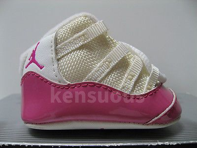 ... best first jordan 11 xi retro nike baby shoes white pink air infant  crib 0c http 905a019af