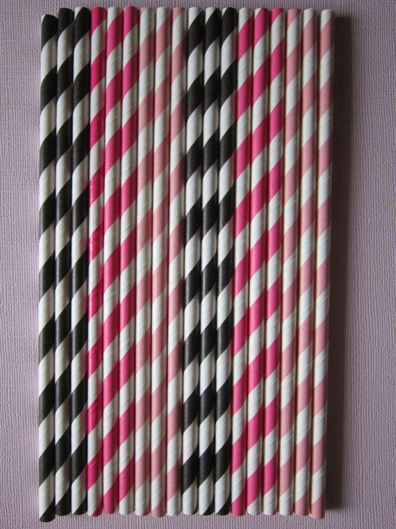 24 Pink Hot Pink & Black Vintage Retro Paper by DKDeleKtables