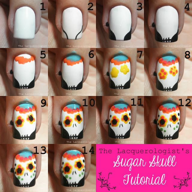 Sugar Skulls (2013) TUTORIAL! - The Lacquerologist