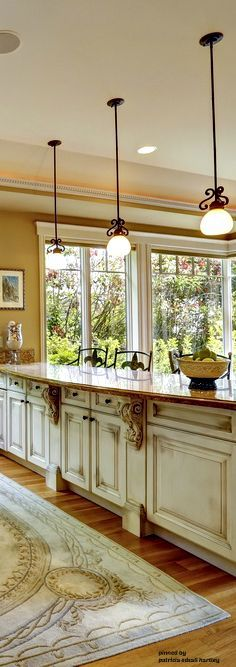 French Country...Oooo!! - I ABSOLUTELY LOVE THIS GORGEOUS KITCHEN!! - SO PERFECT & BEAUTIFUL!!