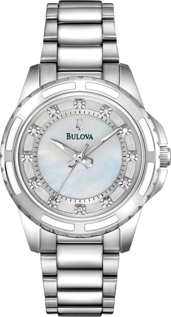 @bulova Watch Ladies Diamond #bezel-fixed #bracelet-strap-steel #brand-bulova #bulova-core-line #case-depth-8mm #case-material-steel #case-width-32mm #delivery-timescale-call-us #dial-colour-white #fashion #gender-ladies #movement-quartz-battery #official-stockist-for-bulova-watches #packaging-bulova-watch-packaging #style-dress #subcat-diamond #supplier-model-no-96p144 #warranty-bulova-official-3-year-guarantee #water-resistant-30m