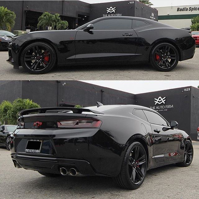 All blacked out 2016 Chevrolet Camaro SS #car
