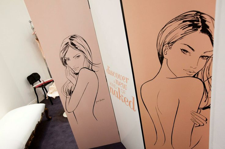 Branding design for Revlon pop-up press event. Featuring illustration from Jason Brooks.