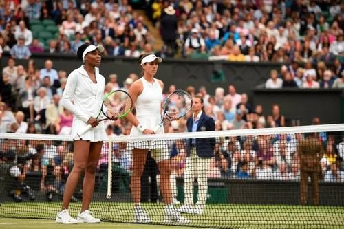 Venus Williams and Garbiñe Muguruza compete on Centre Court for one of the greatest prizes in sport - the Wimbledon Ladies' Singles title. Wimbledon, July 2017