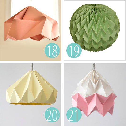 "25 ""DIY-able"" Paper Light Shades"