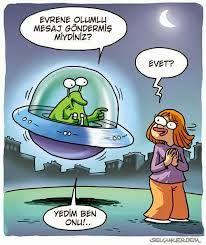 Evrencağızım; sana bu sıralar mesajlar yolluyorum yeni yıla doğru, yedirme onları olur mu? :) Yedirmezsin değil mi? Hadi hayırlısı... :D #EvreneMesaj #Uzaylı #karikatür #caricature