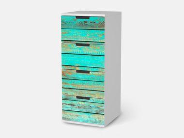 Wooden Aqua für Nordli 1x4 schmale Schubladen - Front Bild 1