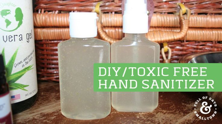Make your own DIY hand sanitizer with fragrant essential oils filled with anti-bug goodness! No more harmful ingredients from those store bought brands.