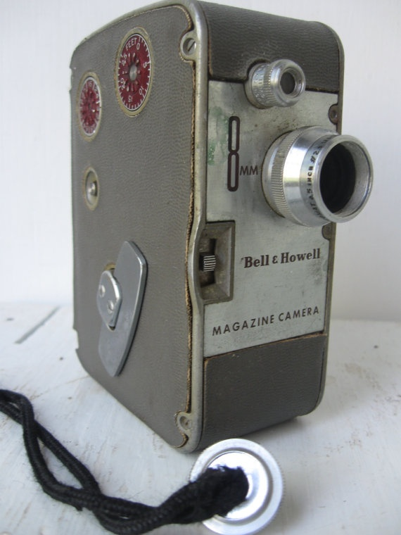 Vintage 8 mm Video Camera Bell Howell Magazine by bigfishlilpond, $26.00
