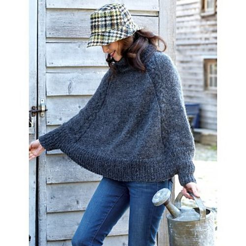 Ravelry: Cape with Cables pattern by Bernat Design Studio