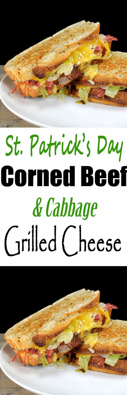 Corned Beef and Cabbage Grilled Cheese. The perfect St. Patrick's Day sandwich!