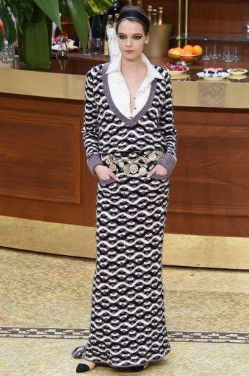 Long dress in maglia Chanel