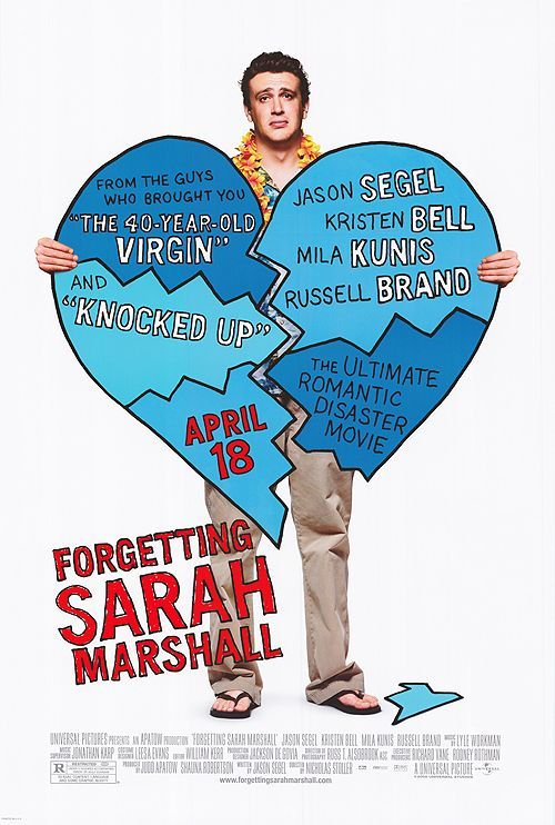 Forgetting Sarah Marshall , starring Kristen Bell, Jason Segel, Paul Rudd, Mila Kunis. Devastated Peter takes a Hawaii vacation in order to deal with recent break-up with his TV star girlfriend, Sarah. Little does he know Sarah's traveling to the same resort as her ex ... and she's bringing along her new boyfriend. #Comedy #Drama #Romance