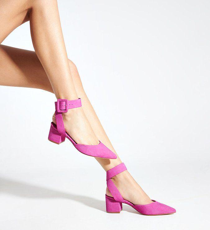Sapato Fechado Salto Bloco Nobuck Pink | Schutz em 2021 | Sapatos, Sapato fechado, Calcanhar