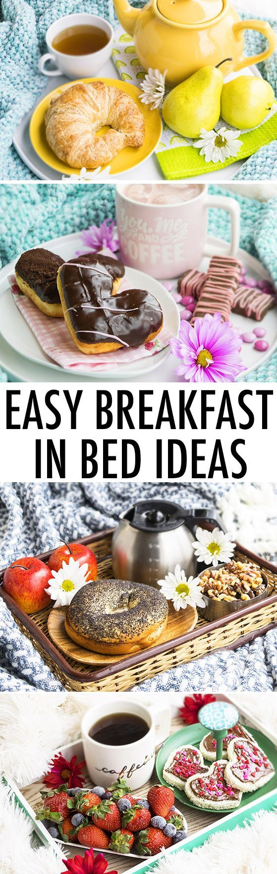These quick and easy BREAKFAST IN BED IDEAS for Valentine's Day, Mother's Day or Anniversaries are romantic, fun and require simple food items and supplies. {Ad} From cakewhiz.com