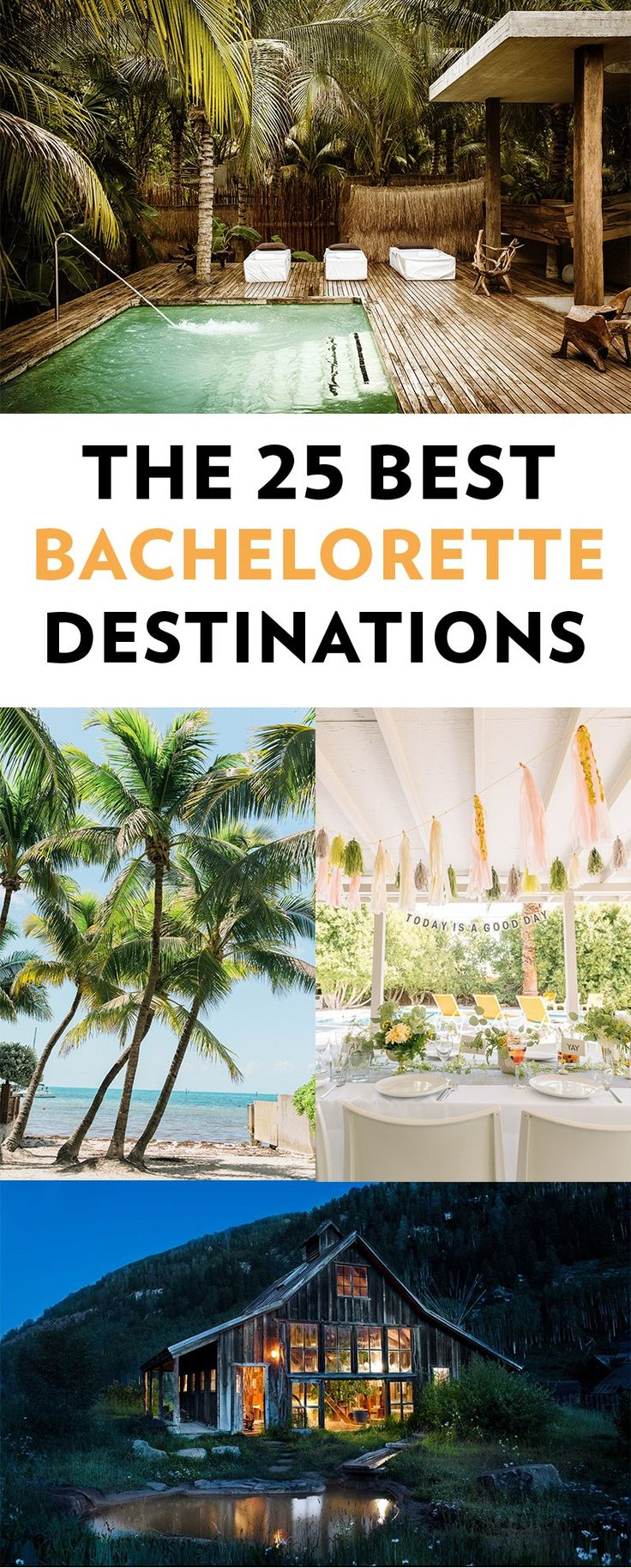 | Whether you are looking for a beach bachelorette, a getaway weekend to the city, a mountain retreat or a spa weekend away, we have the best bachelorette cities to help you find your perfect party getaway. Click to see them all!