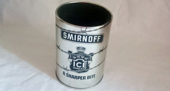 SMIRNOFF BOTTLE HOLDER / Collectable Drink by PenelainAntiques