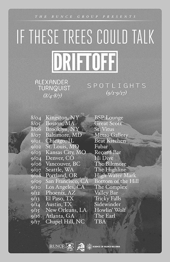 If These Trees Could Talk announces USA headlining tour with Driftoff, Spotlights, Alexander Turnquist | Metal Blade Records