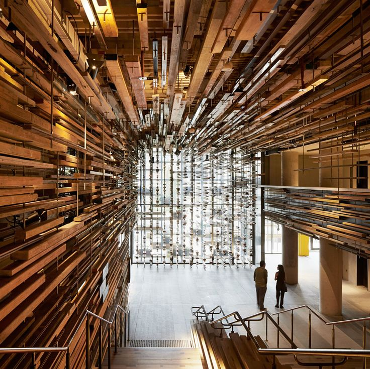 March Studio has been awarded the World Interior of the Year prize with its design of a sculptural timber lobby and utilitarian bar at a Canberra hotel