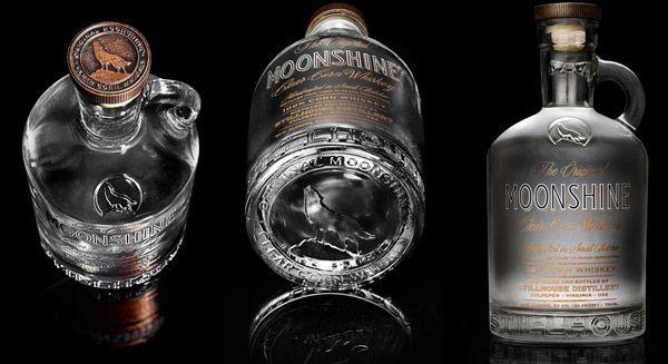Moonshine Bottle Clear