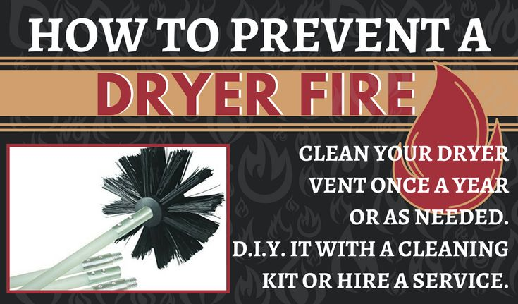 NFPA Prevent Dryer Fires Statistics - NATIONAL FIRE PROTECTION ASSOCIATION Home Fires Clothes Dryers - How to prevent a dryer fire - simple things you can do - Clean your vent hose yearly or as needed - DIY with this cleaning kit or hire a service