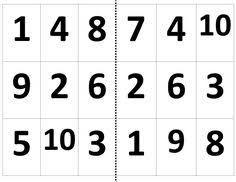 Resultado de imagen para loteria de numeros del 1 al 10