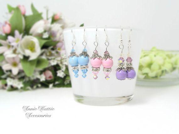 Drop earrings Dangle earrings Silver earrings by AnnieKattie