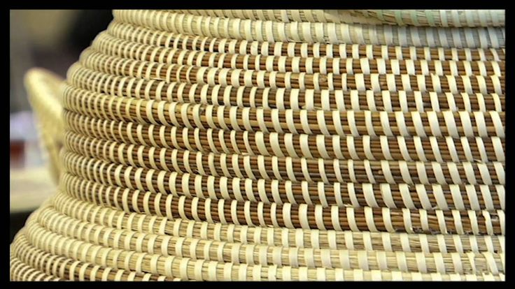 west african sweet grass coil basketry