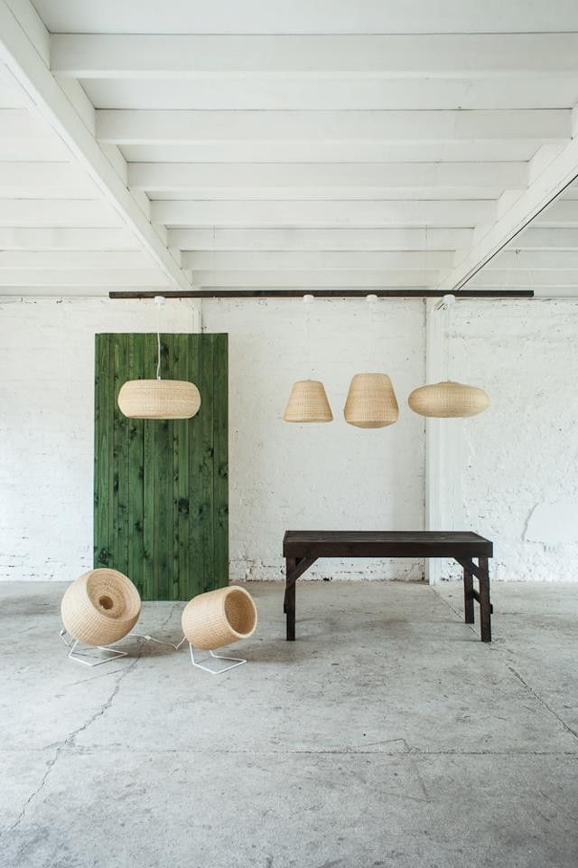 Santiago-based Made in Mimbre is a team of designers and artisans who create modern wicker lighting and furniture using traditional crafts techniques.