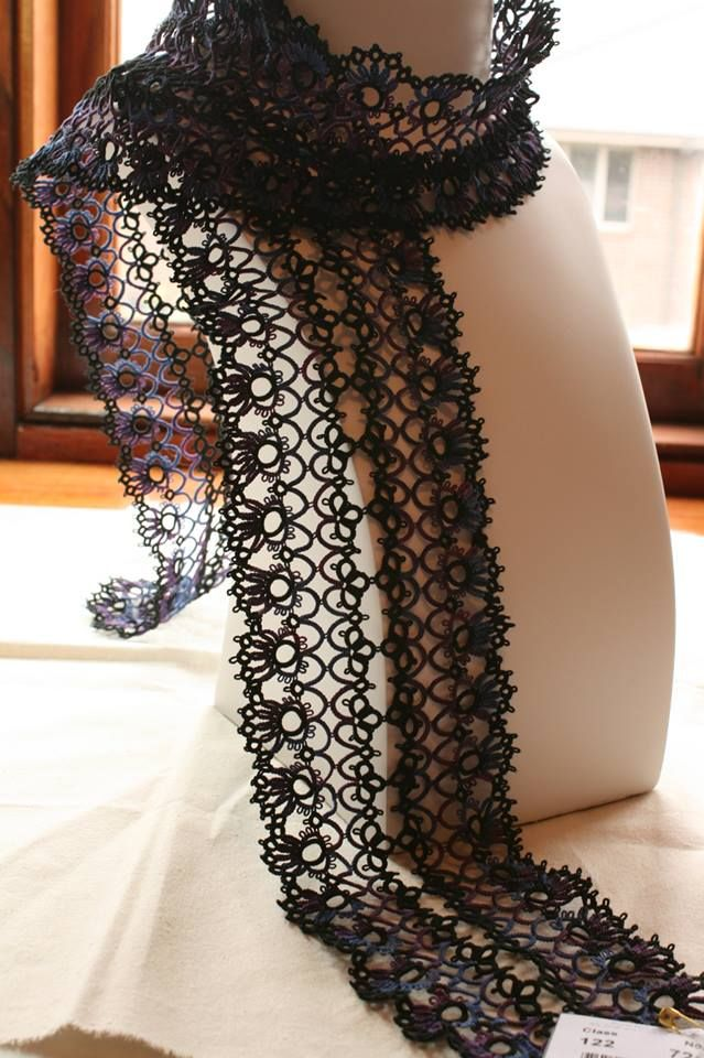 I can't believe it's tatted! WoW! Beautiful lace scarf!