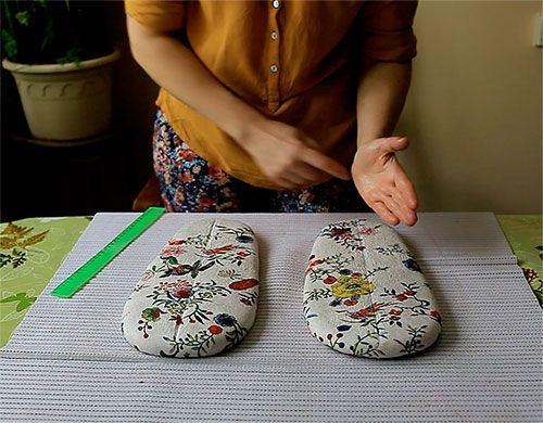 «Домашние тапочки в технике нуно-фелтинг»