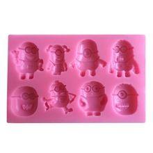 Despicable me minion stampi torta fondente del sapone della muffa del cioccolato per la cottura della cucina c333(China (Mainland))