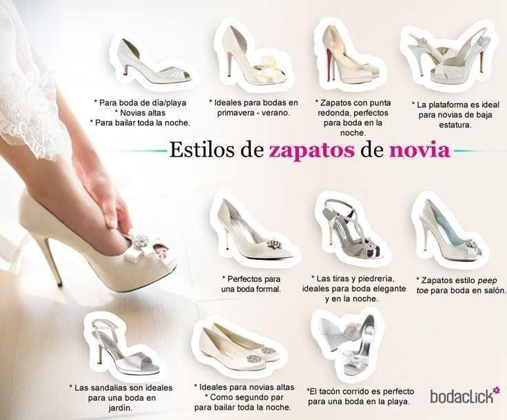 Estilo de zapatos de novia
