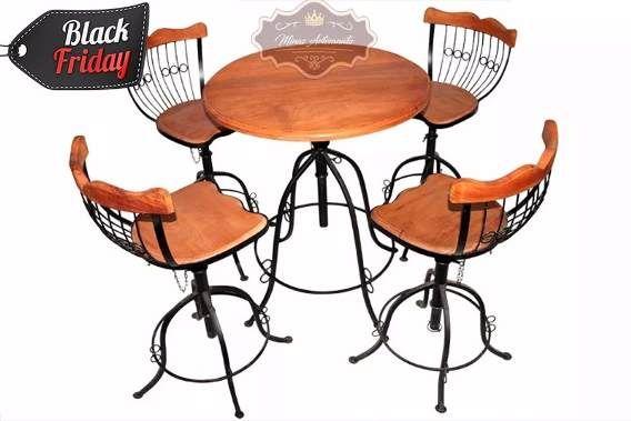 Conjunto Mesa E Cadeira - Varanda-área Gourmet Black Friday