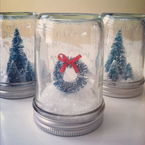Mason Jar Christmas Decorations: Wreath Mason Jar Christmas Decoration