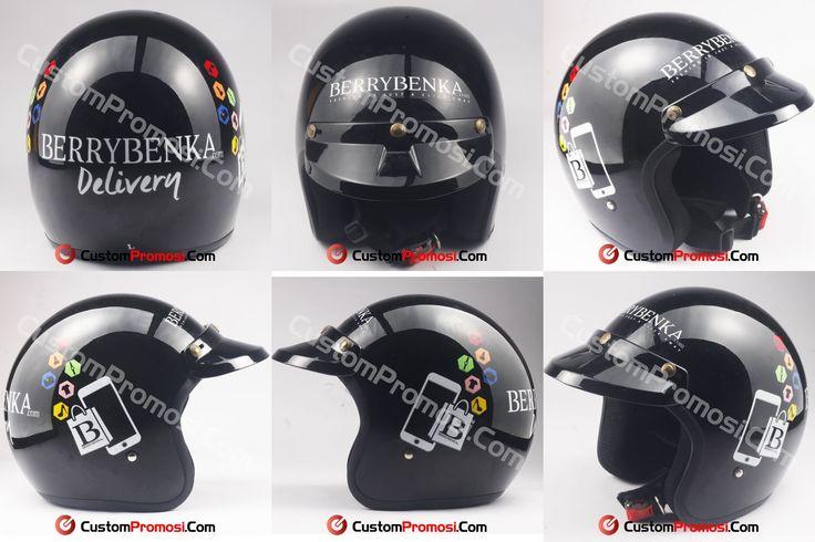 """Helm Promosi Pesanan """" BERRYBENKA"""" Untuk harga hubungi +6281287068190"""
