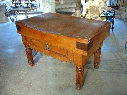 Antique Butcheru0027s Block Table