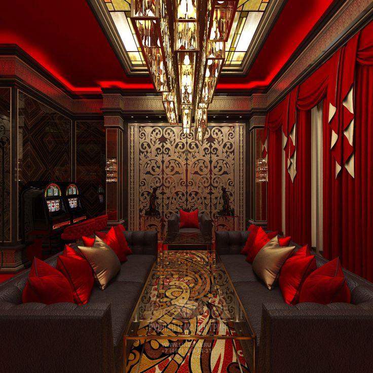 Роскошный интерьер VIP казино в стиле ар-деко