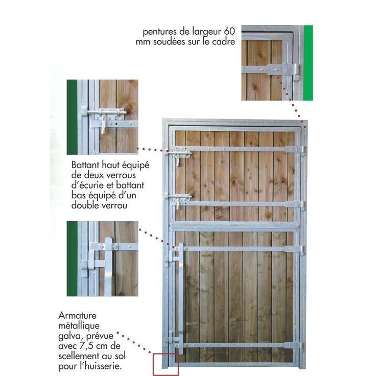 Porte de box pour chevaux 2 battants pro bois douglas porte de box pour chevaux boxes et abris - Porte de box pour chevaux a vendre ...