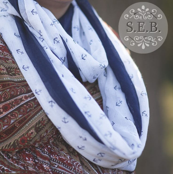 Lovely Infinity Anchor Scarf.