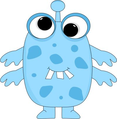 free cute monster clip art | Blue Monster Clip Art Image - blue monster with big funny eyes, buck ...