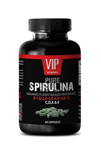 Supreme Spirulina 500 mg EXtract of Klamath Lake  To Promoting Brain and Cardiovascular Health1 Bottle 60 Capsules * Click image to review more details.